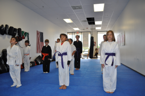 kids in karate cla