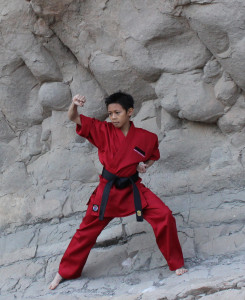 Kieran Tamondong in his red ProForce® uniform, $39.95 and up