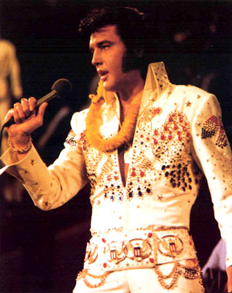 Elvis Presley in his iconic American Eagle suit, from 1973's Aloha from Hawaii Via Satellite