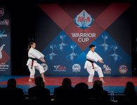 Kieran Tamondong and Emma Teo compete at the AKA Warrior Cup, 2016