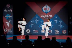Kieran Tamondong and Emma Teo compete at the AKA Warrior Cup, 2016