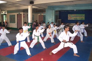 Children practicing karate.  Source: Wikipedia