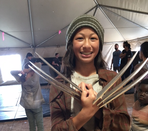 Emma Teo on the set of Wolverine Photo Credit: Michelle Teo