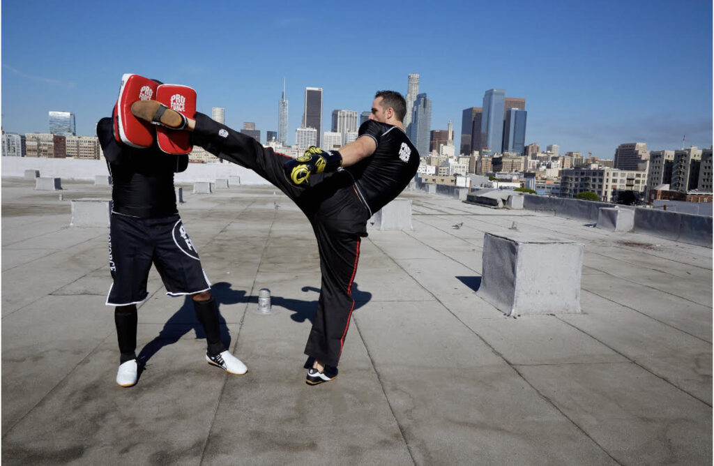 outdoor martial arts training